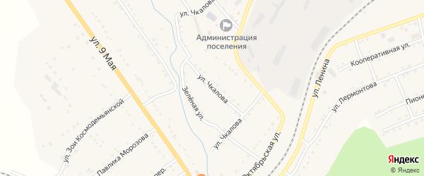 Улица Чкалова на карте поселка Сулеи с номерами домов