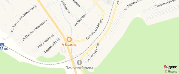 Октябрьская улица на карте поселка Сулеи с номерами домов