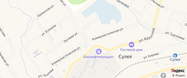 Коммунистическая улица на карте поселка Сулеи с номерами домов