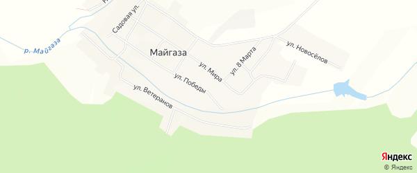 Карта села Майгазы в Башкортостане с улицами и номерами домов
