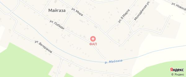 Улица Ветеранов на карте села Майгазы с номерами домов