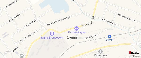 Улица Крупской на карте поселка Сулеи с номерами домов