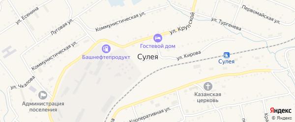 Лесная улица на карте поселка Сулеи с номерами домов