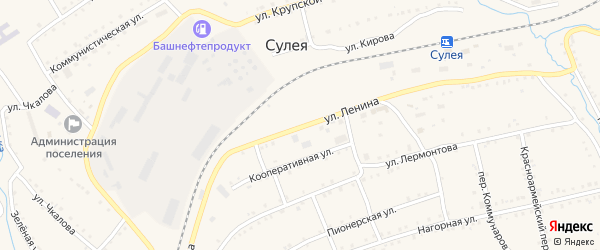 Улица Ленина на карте поселка Сулеи с номерами домов