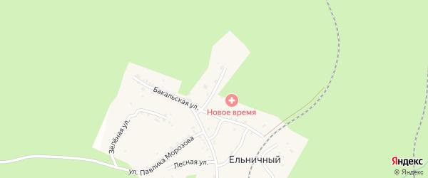 Школьная улица на карте Ельничного поселка с номерами домов