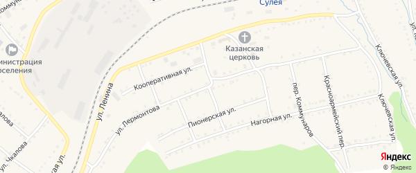 Улица Лермонтова на карте поселка Сулеи с номерами домов