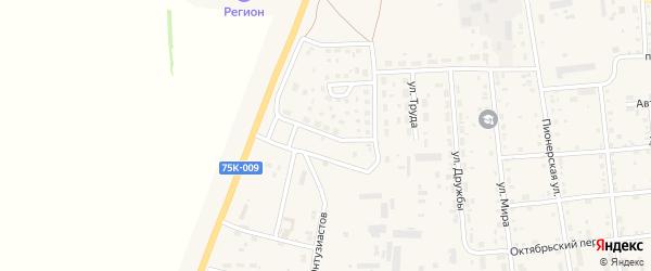 Автомобильный переулок на карте Кизильского села с номерами домов
