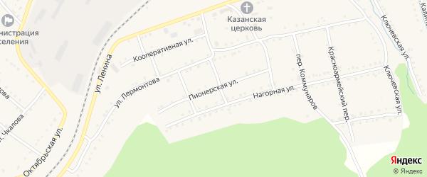 Пионерская улица на карте поселка Сулеи с номерами домов