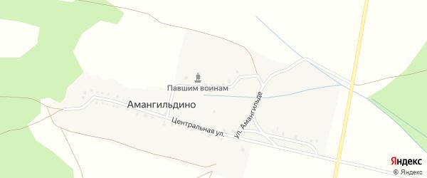 Улица Амангильде на карте деревни Амангильдино с номерами домов