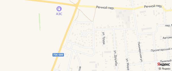 Молодежная улица на карте Кизильского села с номерами домов