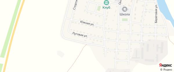 Луговая улица на карте Сыртинского поселка с номерами домов