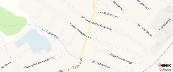Комсомольская улица на карте поселка Сулеи с номерами домов