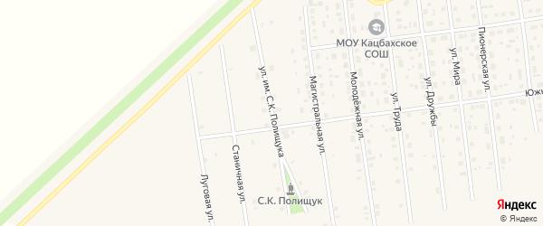 Улица им С.К.Полищука на карте Кизильского села с номерами домов