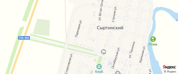 Парковая улица на карте Сыртинского поселка с номерами домов