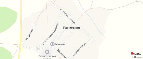 Молодежная улица на карте деревни Рахметово с номерами домов