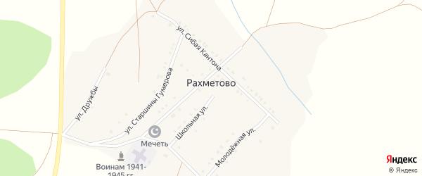 Улица Сибая Кантона на карте деревни Рахметово с номерами домов