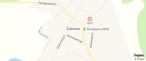 Полевая улица на карте села Соколки с номерами домов
