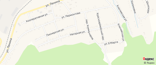 Нагорная улица на карте поселка Сулеи с номерами домов