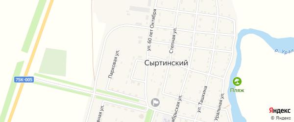 Улица 60 лет Октября на карте Сыртинского поселка с номерами домов
