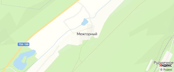 Карта Межгорного поселка в Челябинской области с улицами и номерами домов