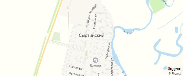 Карта Сыртинского поселка в Челябинской области с улицами и номерами домов