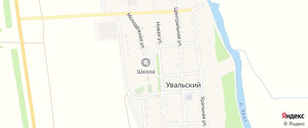 Молодежная улица на карте Увальского поселка с номерами домов