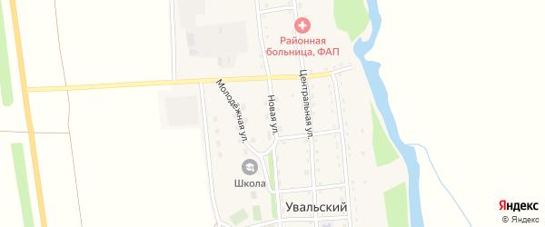 Новая улица на карте Увальского поселка с номерами домов