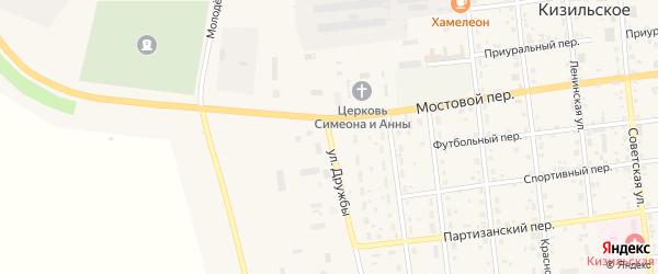 Улица Дружбы на карте Кизильского села с номерами домов