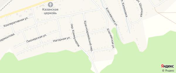 Красноармейский переулок на карте поселка Сулеи с номерами домов