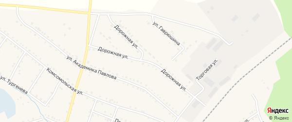 Дорожная улица на карте поселка Сулеи с номерами домов
