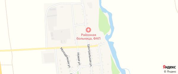 Центральная улица на карте 11-й хутора с номерами домов