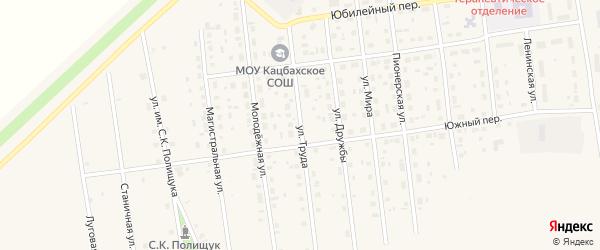 Улица Труда на карте Кизильского села с номерами домов