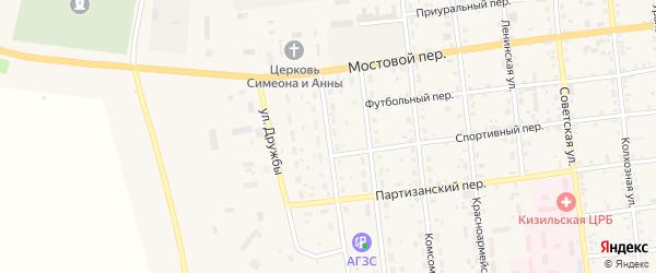 Улица Мира на карте Кизильского села с номерами домов