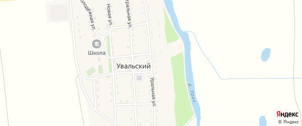 Уральная улица на карте Увальского поселка с номерами домов