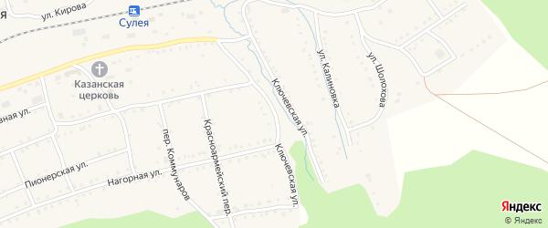 Ключевская улица на карте поселка Сулеи с номерами домов