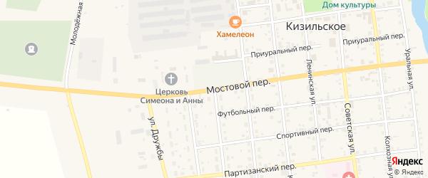 Пионерская улица на карте Кизильского села с номерами домов