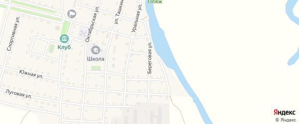 Береговая улица на карте Сыртинского поселка с номерами домов