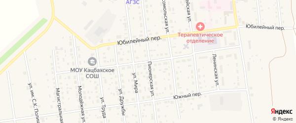 Центральный переулок на карте Кизильского села с номерами домов