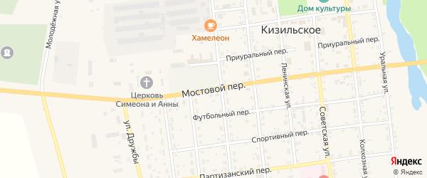 Мостовой переулок на карте Кизильского села с номерами домов
