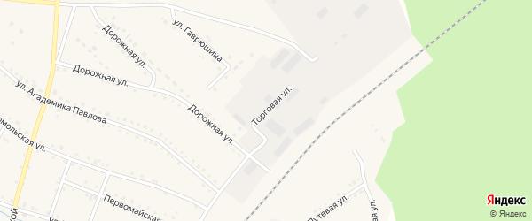 Торговая улица на карте поселка Сулеи с номерами домов
