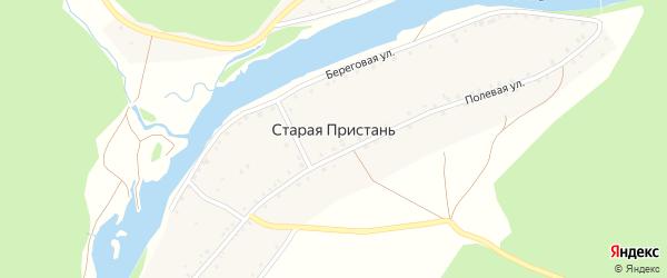 Береговая улица на карте деревни Старой Пристани с номерами домов