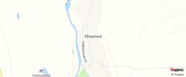 Карта поселка Ильинки в Челябинской области с улицами и номерами домов