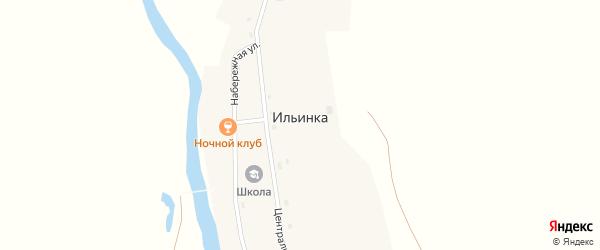 Набережная улица на карте поселка Ильинки с номерами домов