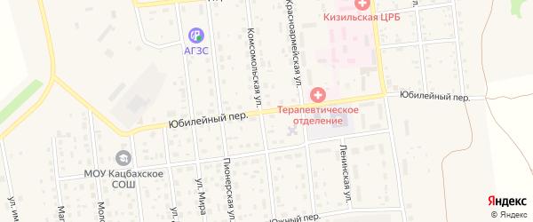 Юбилейный переулок на карте Кизильского села с номерами домов