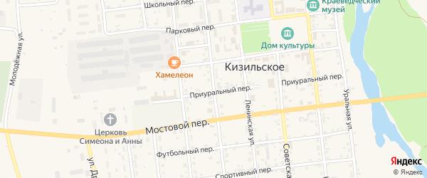 Красноармейская улица на карте Кизильского села с номерами домов