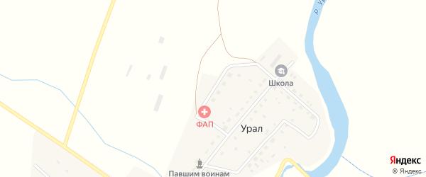 Улица Строителей на карте деревни Урала с номерами домов