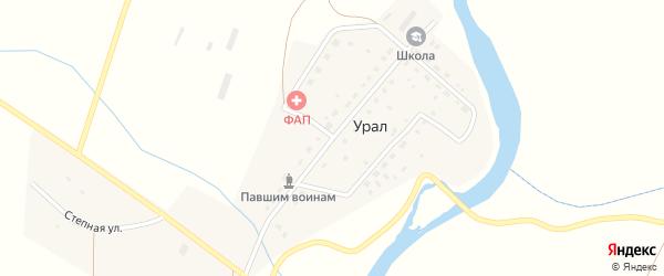 Центральная улица на карте деревни Урала с номерами домов