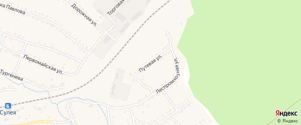 Путевая улица на карте поселка Сулеи с номерами домов