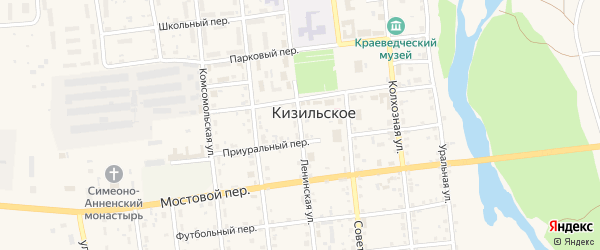 Ленинская улица на карте Кизильского села с номерами домов