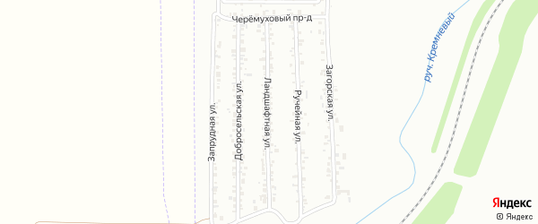 Ландшафтная улица на карте Магнитогорска с номерами домов